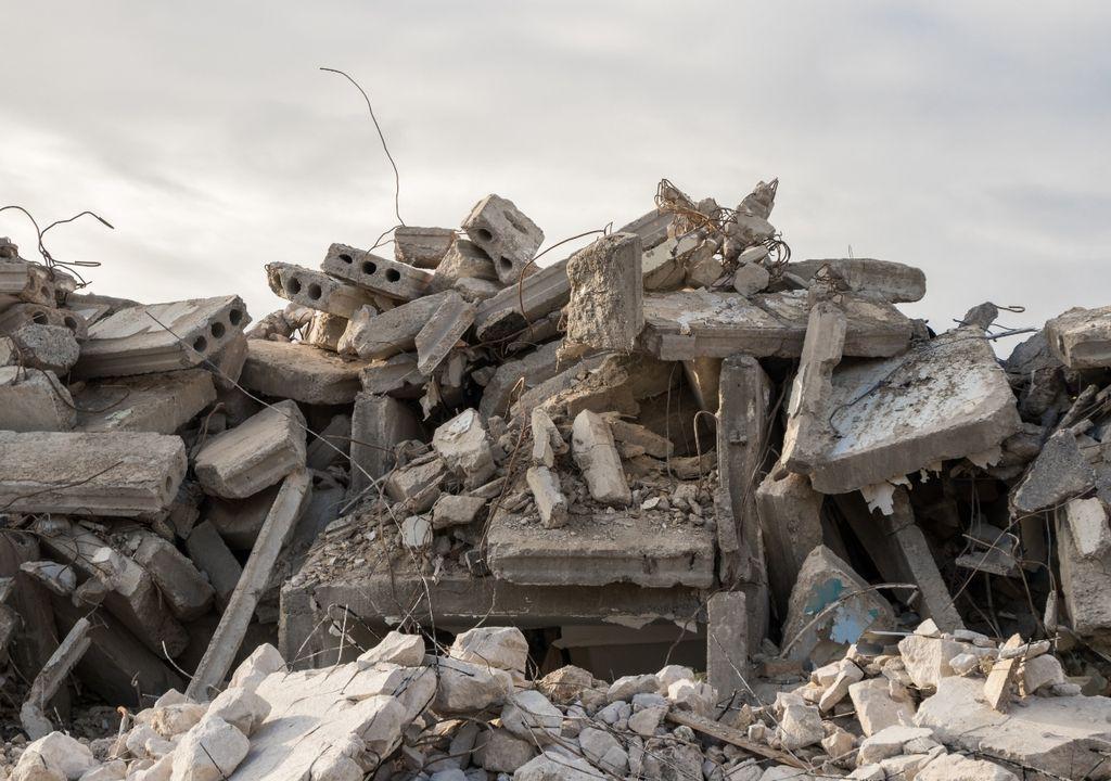 Escombros de prédio