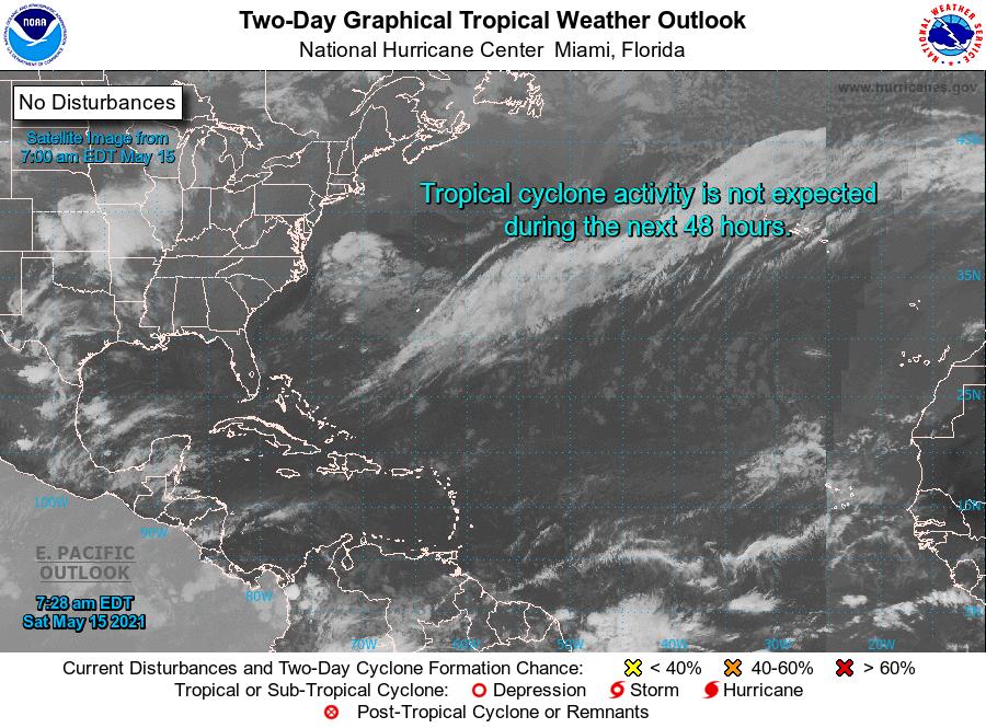 """Comienzan las emisiones de """"Perspectiva del tiempo tropical"""" del NHC"""