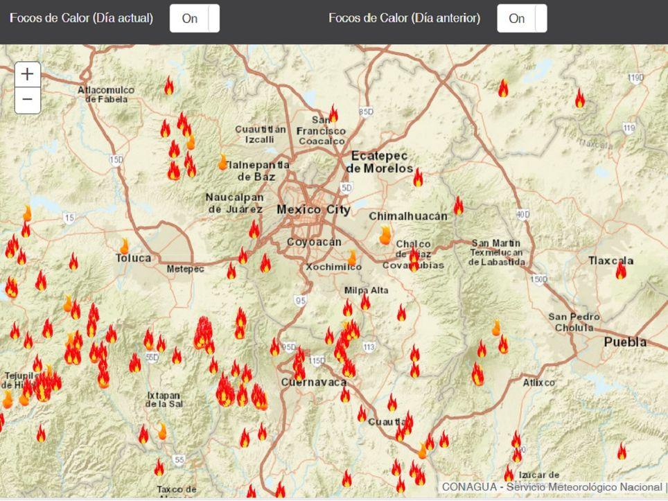 Incendios forestales del día 13 y 14 de mayo del 2019