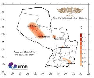 Con calor extremo se inicia el año en Paraguay
