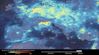 Coronavirus: las emisiones de dióxido de nitrógeno caen en Italia