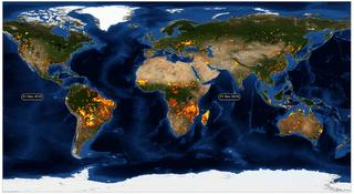 Cotas récord de la intensidad de los incendios forestales en 2020