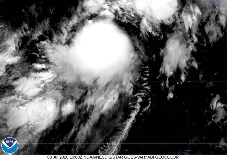 Imagen tormenta Cristina en el Pacífico Norte