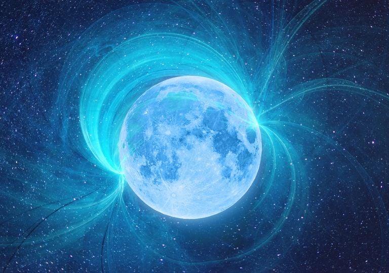 Lua campo magnético