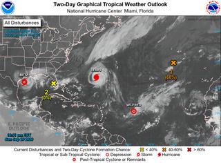 Curiosidades de la tormentas tropicales a fecha de 21 de septiembre