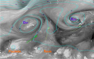 Danas e interacciones con las tormentas tropicales Paulette y Rene