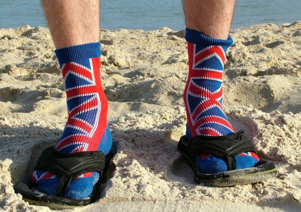 Chanclas con calcetines