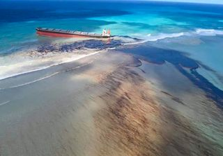 Desastre ambiental: la paradisíaca Isla Mauricio se tiñe de negro