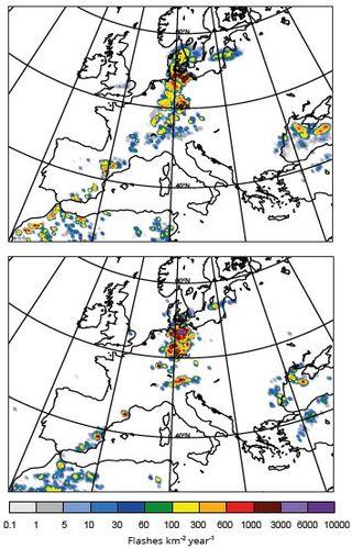 Descargas eléctricas en el modelo del ECMWF/CEPPM