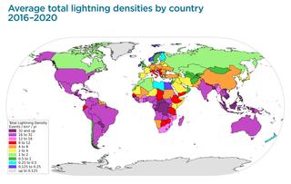 Descargas eléctricas globales en 2020