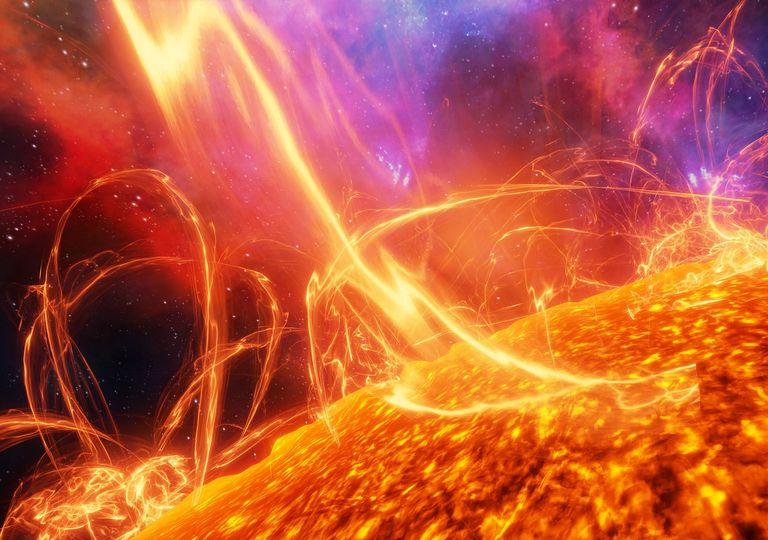 Superficie del Sol; actividad solar; terremotos solares