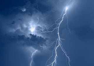 Blue flashes: electrical discovery in storm clouds