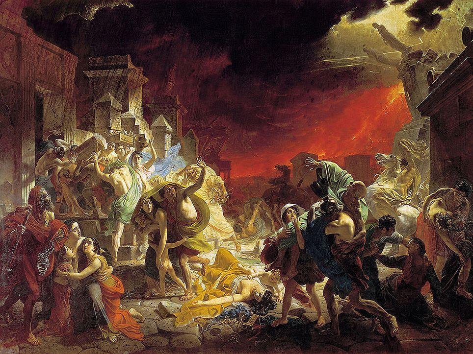 """Últimos días de Pompeya"", obra realizada por Karl Briulov."
