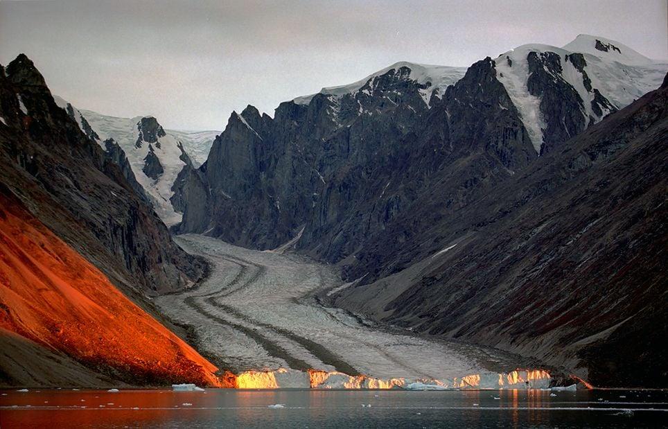 Fiordo Franz Josef, en el Parque Nacional del Nordeste de Groenlandia, el parque con mayor extensión del mundo.