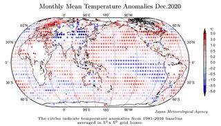 Diciembre de 2020 a nivel global: el décimo, según JMA
