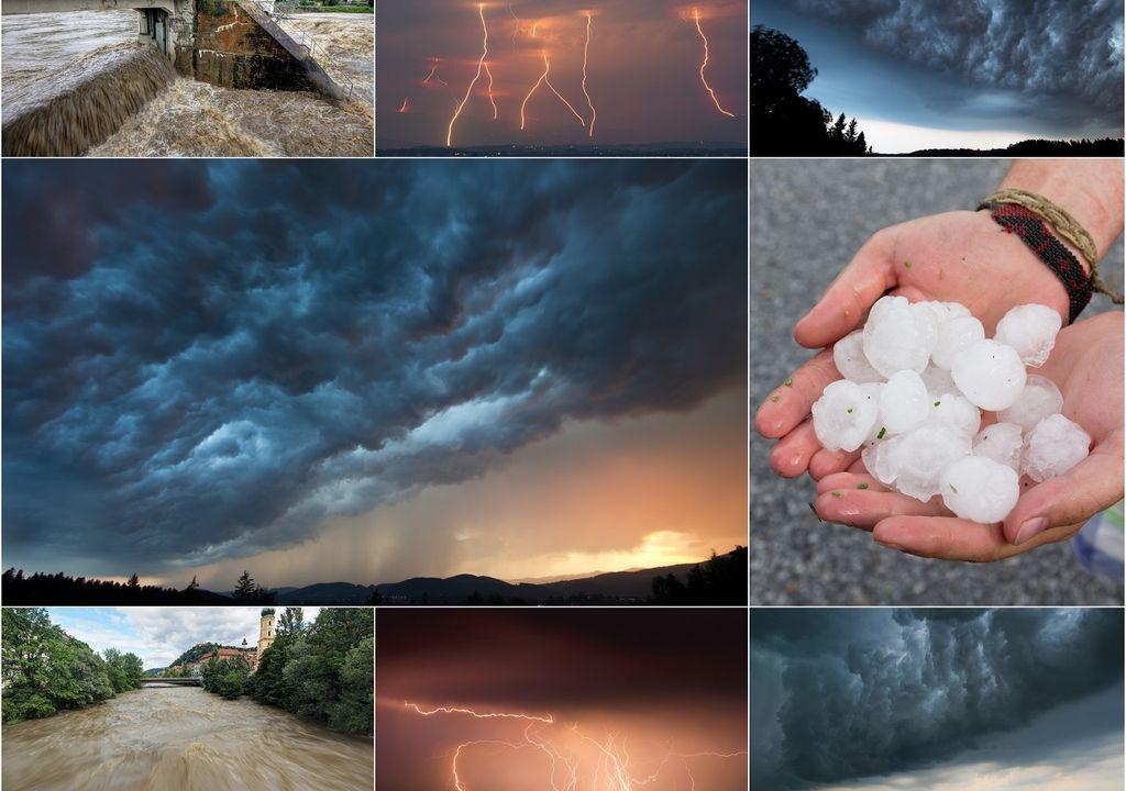 Tiempo severo; granizo; inundaciones; tormentas
