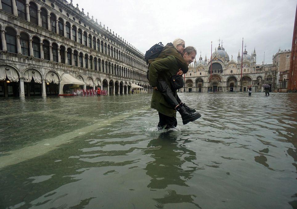 Después de las fuertes inundaciones en Venecia, también corre peligro su patrimonio histórico. Fotografía: El tiempo