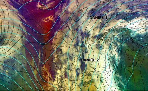 ¿Dónde está y estará la borrasca Daniel?
