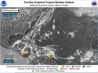 Dos ondas tropicales son seguidas en la zona del Caribe por el NHC