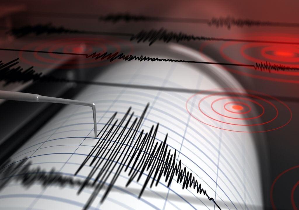 Seismograph detecting earthquake.