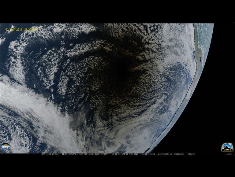 Imagen de GOES-17 en verdadero color