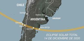Eclipse solar total en América del Sur