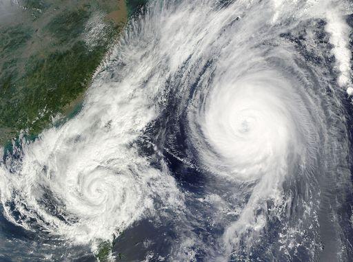 Efecto Fujiwhara, el baile que 'triunfa' entre tormentas y huracanes