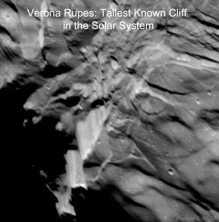 El acantilado más alto conocido del Sistema Solar