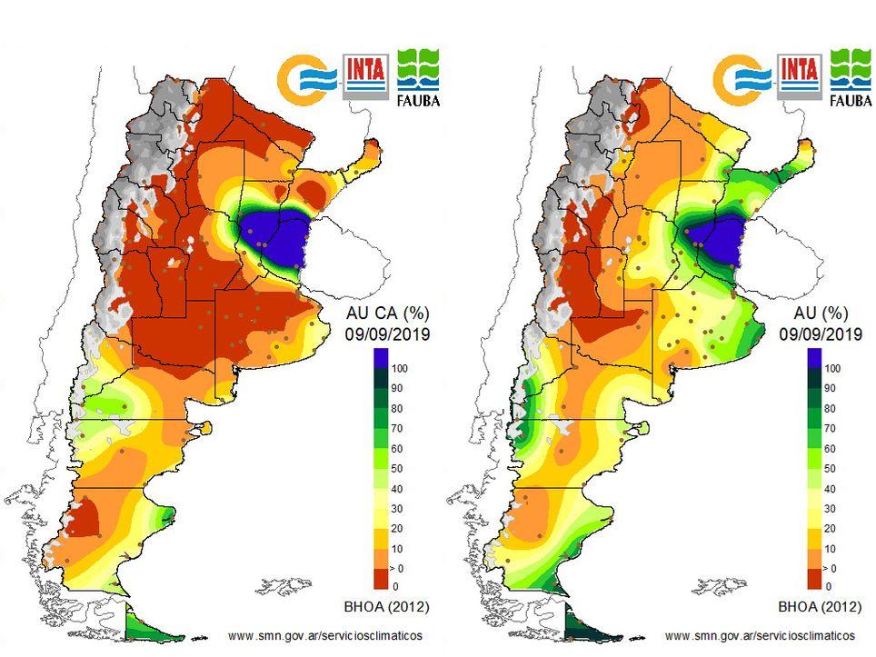 humedad del suelo, lluvia, sequía