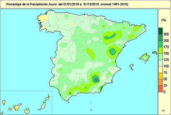 El Año 2018 En España: Cálido Y Muy Húmedo