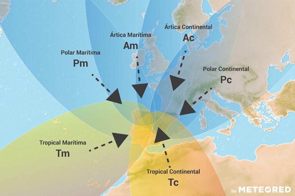 Masas de aire Península