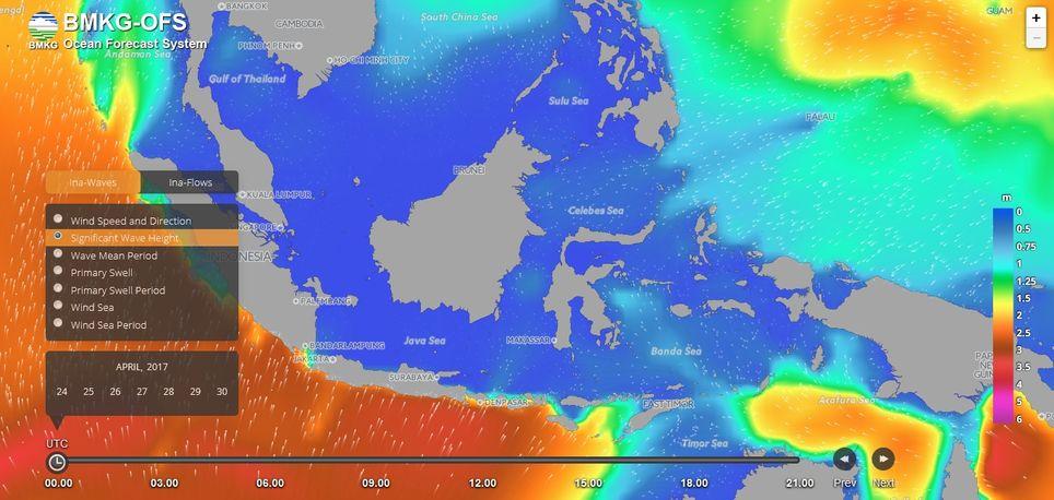 El Bmkg Lanzó El Nuevo Sistema De Pronóstico Del Océano (Bmkg-Ofs)