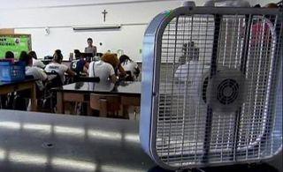 El calor y los niños en las escuelas españolas