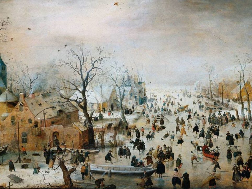 Pequeña edad de hielo cambio climático. Calentamiento global