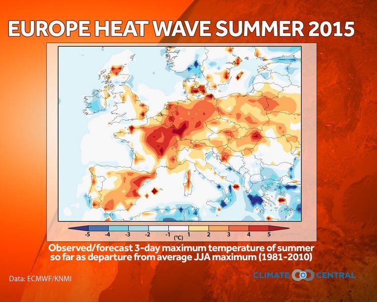 El Cambio Climático Desempeña Un Papel Significativo En La Ola De Calor De Europa