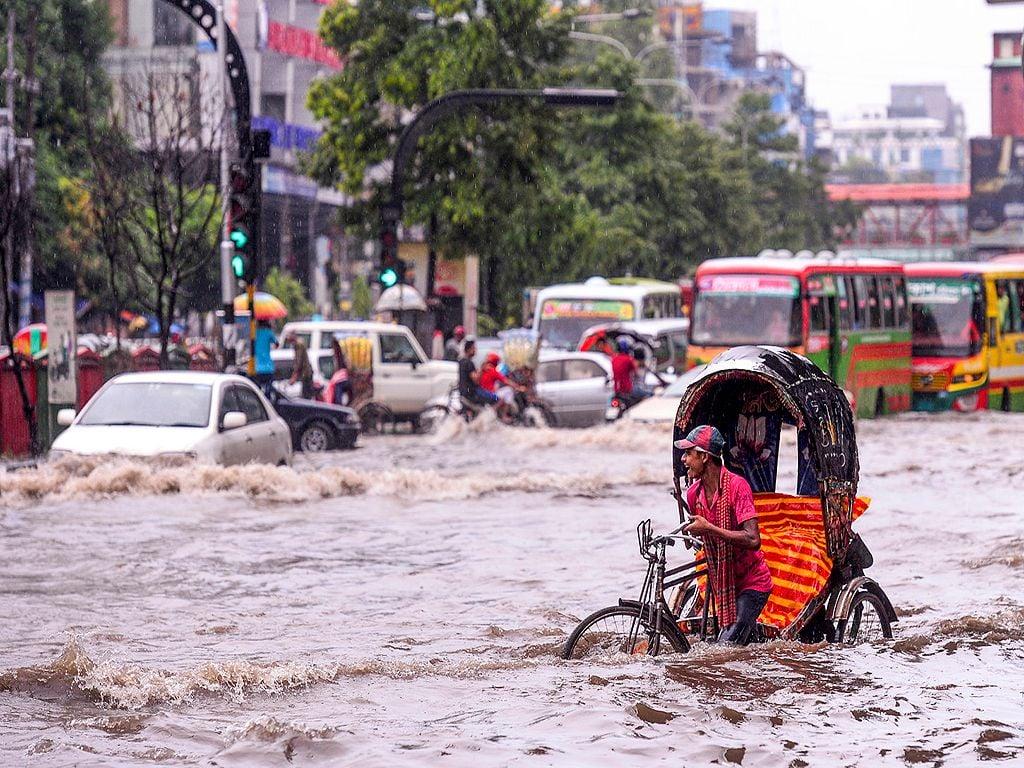 Inundaciones monzónicas en el sudeste asiático en el verano de 2019.