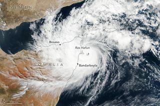 El ciclón tropical Gati hace historia llegando a Somalia
