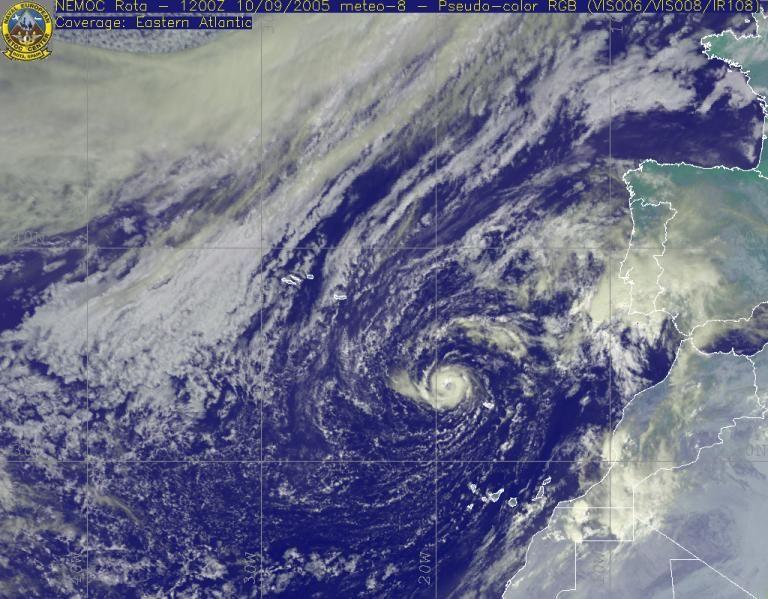 """El Ciclón """"vince"""" En Las Cercanías De La Península Ibérica. Parte I"""