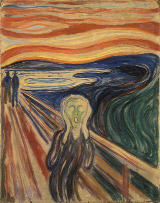 """El cielo en """"El grito"""" de Edvard Munch y las nubes nacaradas"""