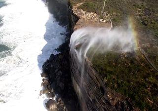 El extraño caso de las cascadas que fluyen hacia arriba