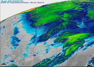 El frío del Medio Oeste y los realces en las imágenes de satélite