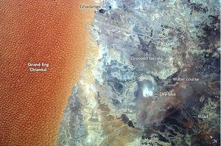 El gran Erg Oriental, Argelia