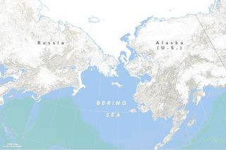 El hielo marino en el mar de Bering bajo mínimo histórico