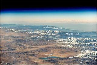 El Himalaya desde la ISS
