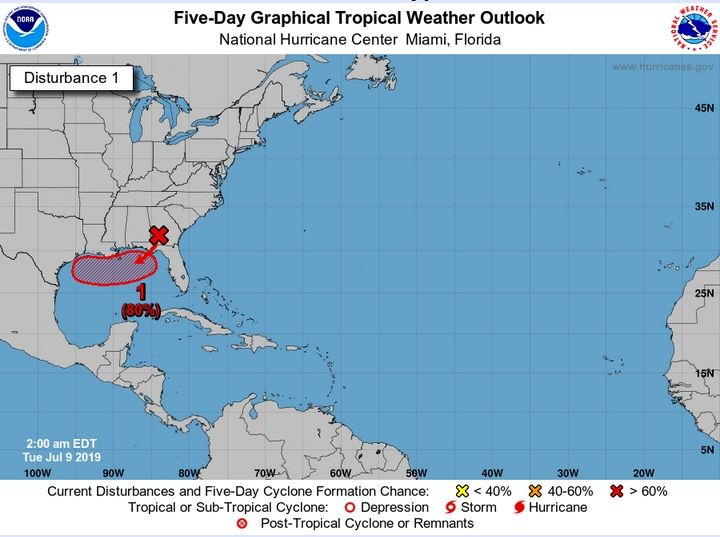 Depresión tropical podría llegar como huracán a Texas este fin de semana