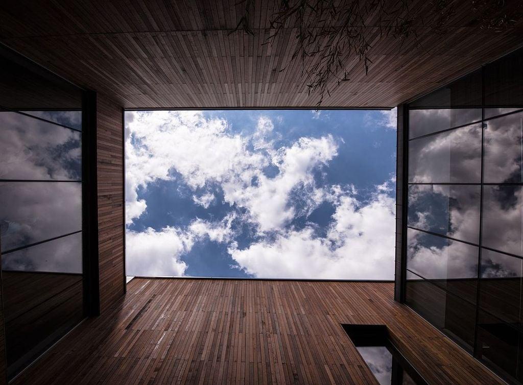 Vista exterior con nubes