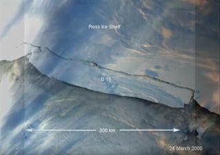 El mayor iceberg jamás observado: el B-15