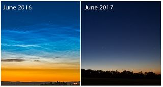El misterio de la falta de las nubes noctilucentes