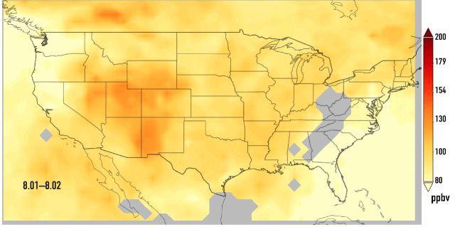 El Monóxido De Carbono De Los Incendios Forestales De California Se Desplaza Hacia El Este