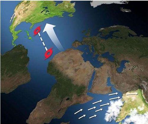 El Monzón Indio Conduce Los Ciclones Tropicales A Través Del Atlántico
